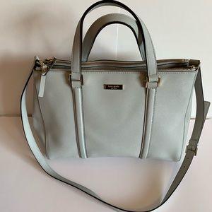 Kate Spade pebbled leather gray satchel/crossbody